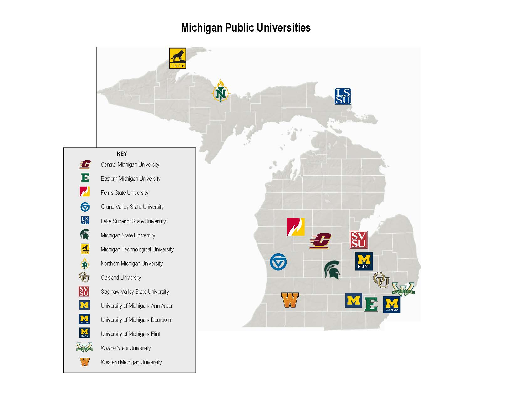 Michigan Public Universities Institutional Research Western
