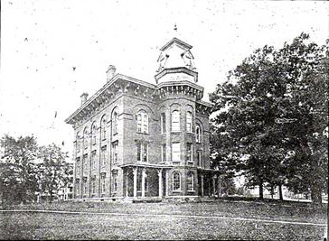 The old College building in 1904