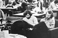 Students in the library in 1972.