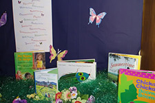 A display for the reading center and clinic in 2006.