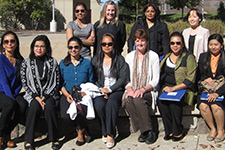 Textile and Apparel Studies faculty welcome nine women from Bangladesh, Myanmar, and India to the WMU campus.