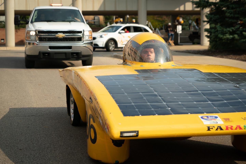 WMU's Sunseeker solar car.