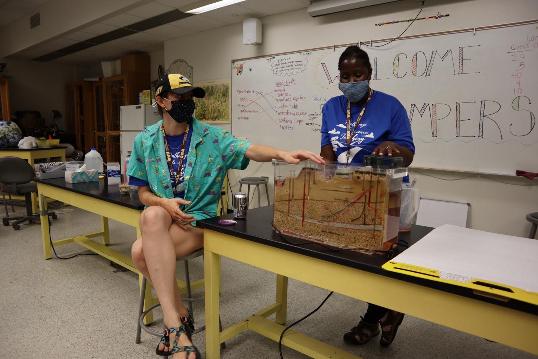 Students teach a class.