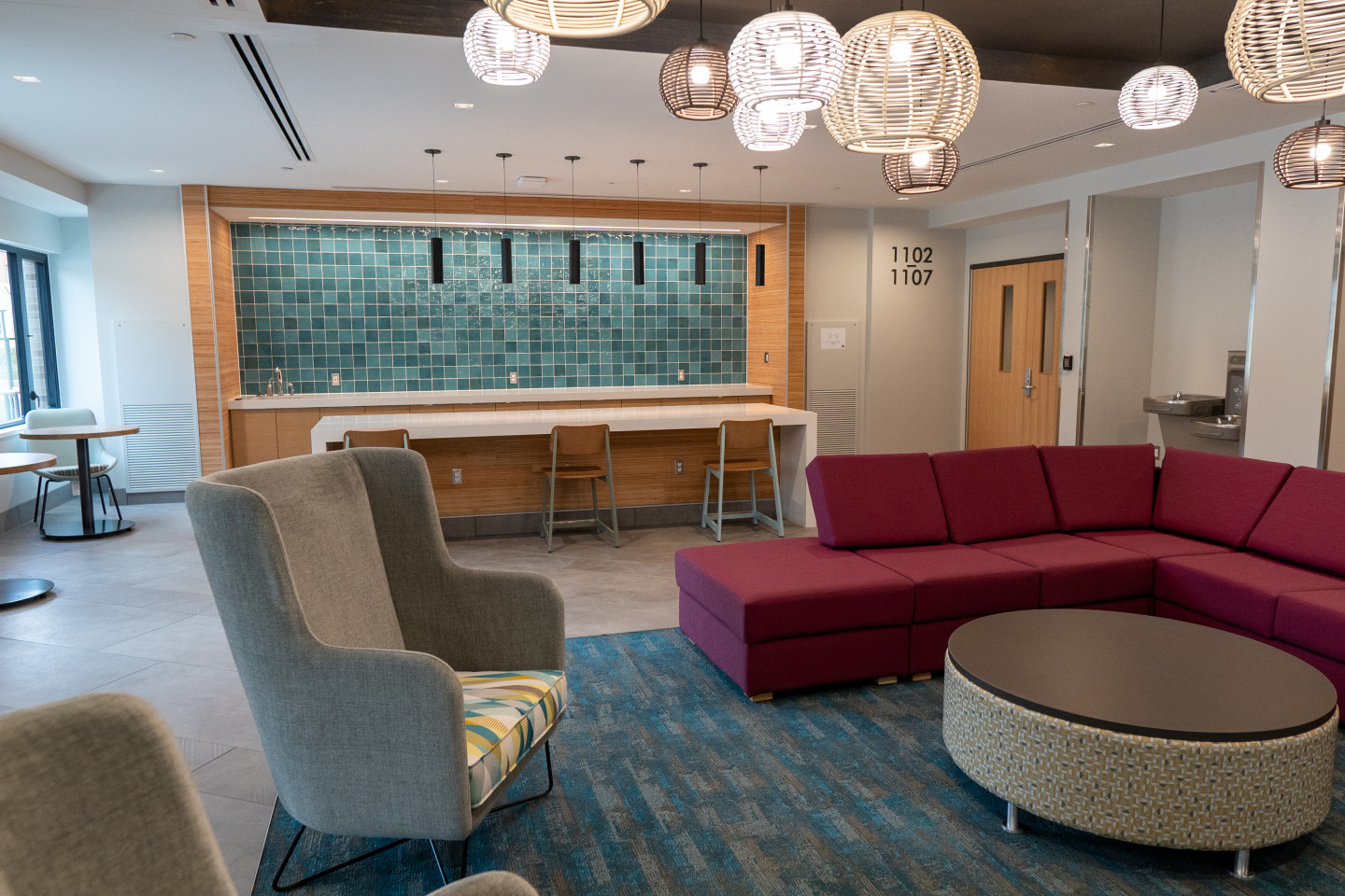 A lounge area in Arcadia Flats.
