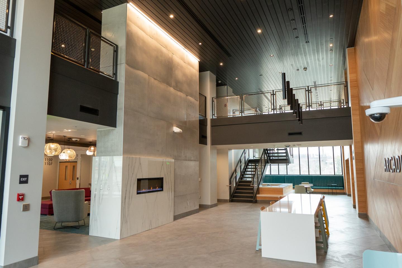 Lobby area of Arcadia Flats.