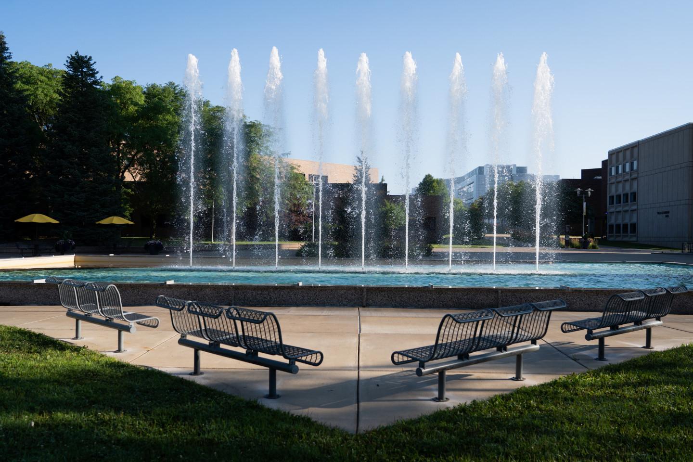 Miller Plaza Fountain.