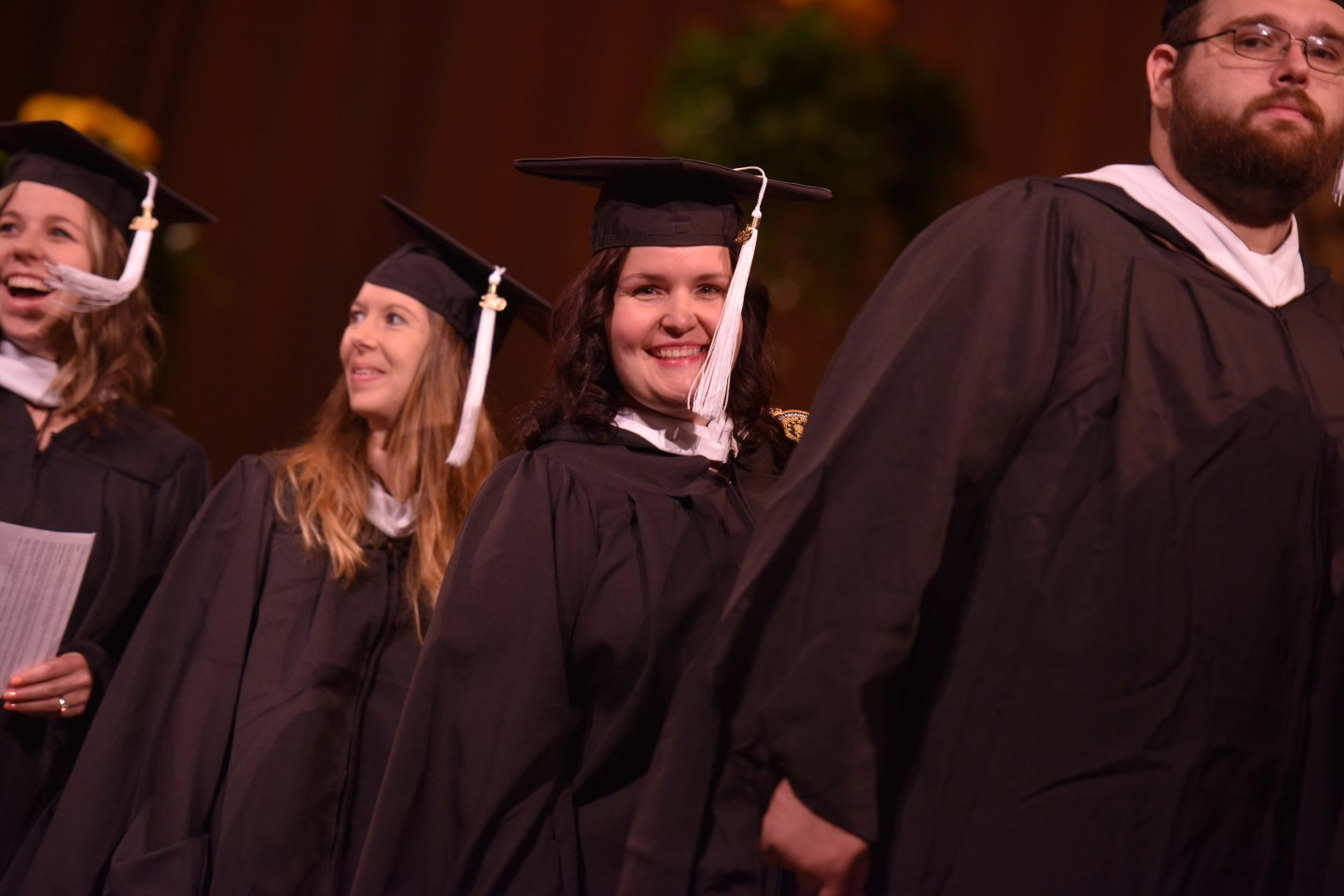 WMU students line up for commencement.