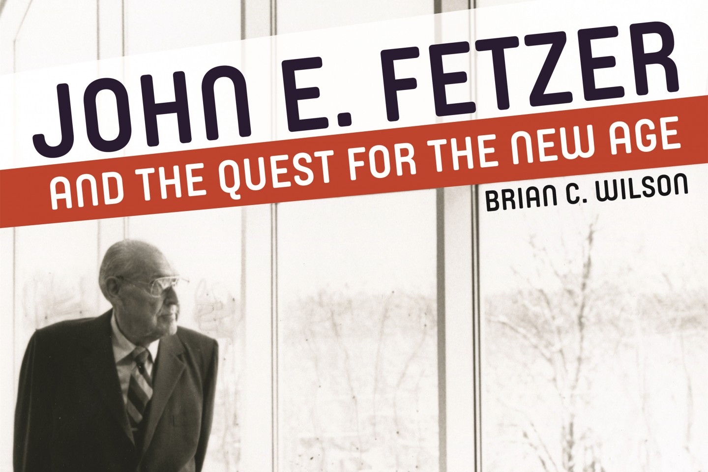 Photo of John Fetzer on the cover of a biographical book about him.