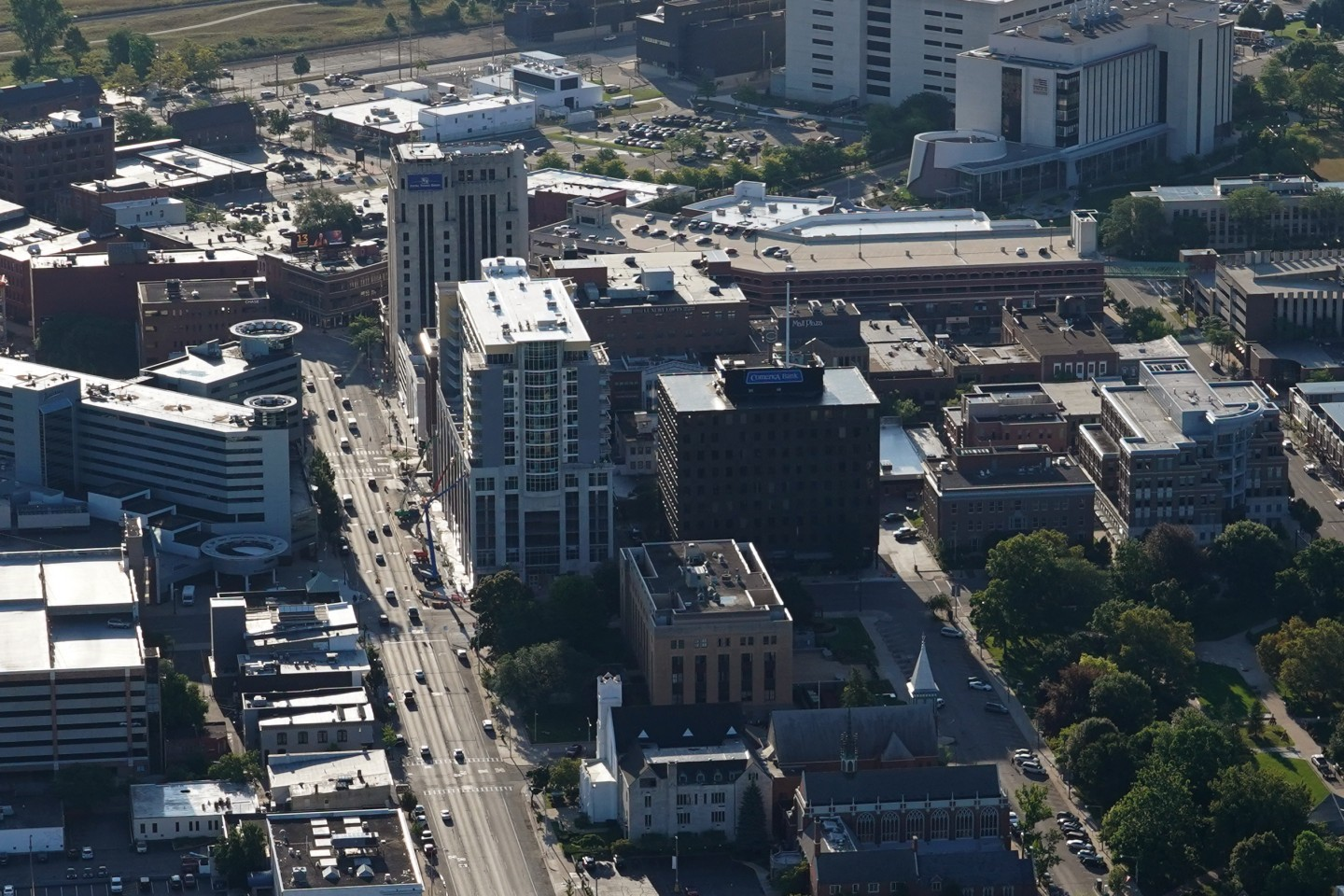 Downtown Kalamazoo from a drone.