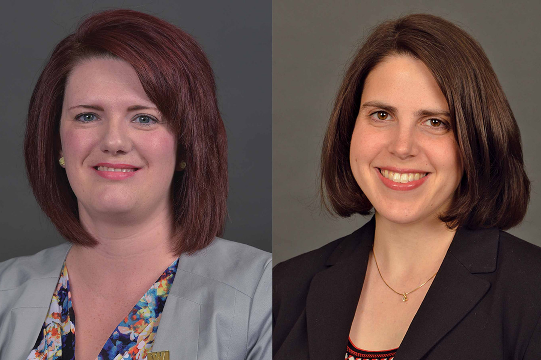 Headshots of Dr. Melissa Intindola and Dr. Laurel Ofstein