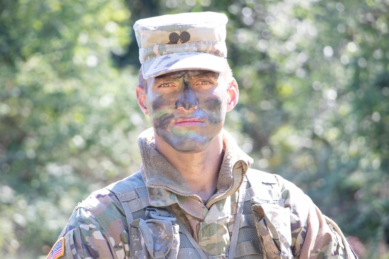 WMU Army ROTC cadet Caleb Goodell