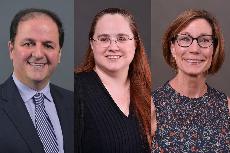 Dr. Massood Atashbar, Dr. Wendy Beane and Dr. Sue Ellen Christian