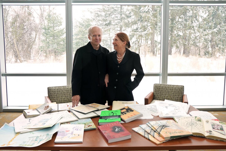 Authors David Small and Sarah Stewart