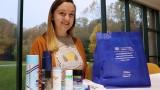 Allison Roelant assembling care package