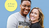Pictured is a portion of the book cover featuring Alexis and Justin