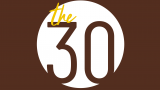 pictured is The 30 logo against brown backdrop
