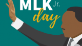 MLK Illustration with MLK Jr. Text