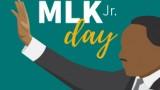 MLK Illustration with MLK Jr. Text