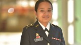 photo of Tika Bhujel in military dress unifrom