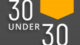 Graphic with the words 30 under 30 2019 Honorees. Plus a Western Michigan University Haworth College of Business logo.