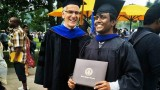 Thennapan and Dr. Palmer at graduation