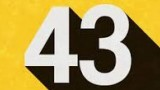 graphic of the number 43