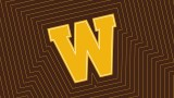 W logo with brown background
