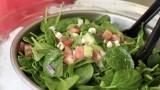Turkish spinach salad