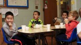 Children eating at Children's Place Learning Center