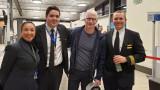 2015 WMU College of Aviation Alumnus Matt Thaler with Anderson Cooper