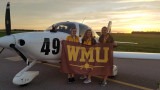 WMU Air Race Classic team with Emma Hughes