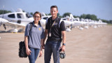 WMU Aviation Flight Faculty Dominic Nicolai and Student