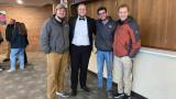WMU Aviation Flight Alumni Brendan Slusser and Friends at Miller Auditorium