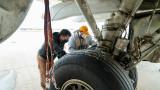 WMU Aviation Technical Operations Student Luis Jaime