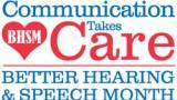 Better hearing and speech month logo