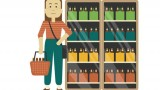Illustration of young, female craft beer shopper