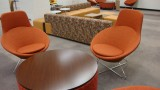 Photo of new orange chairs and couches