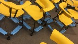 Photo of versatile yellow chairs on first floor