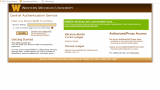 Screen capture of the GoWMU portal