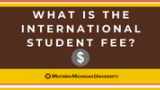 """Decorative image: """"What is the international student fee?"""""""