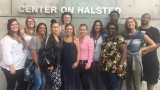 WMU social work students outside of the LGBT Center on Halsted in Chicago