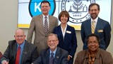 Dignitaries signed the agreement between WMU and KVCC