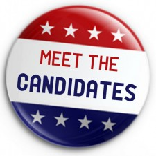 Meet the Candidates lapel pin