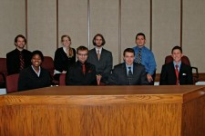 Mock trial team at competition
