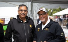 Pictured is Dr. Satish Deshpande and President Edward Montgomery
