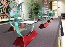 Pictured are the alumni awards.
