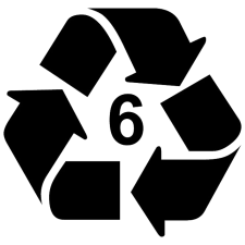 recycling #6 logo