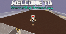 "Lego male, ""Welcome to Minecrafting Archaeology"""