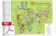photo about Printable Map of Michigan called Printable Maps Campus Maps Western Michigan College