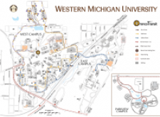 image about Printable Map of Michigan named Printable Maps Campus Maps Western Michigan Faculty